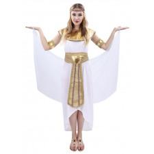 Costume d'égyptienne blanc et or pas cher pour femme
