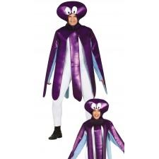 Costume de pieuvre violette pour soirée déguisée sur le thème de la mer