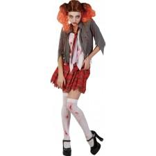 Déguisement pas cher pour Halloween de zombie étudiante pour femme