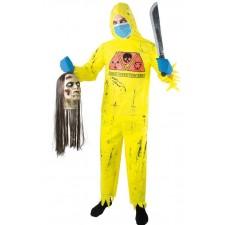 Costume de zombie irradié nucléaire adulte pour Halloween