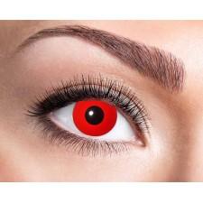 Lentilles de contact pour Halloween rouges